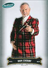Don Cherry collectible hockey card